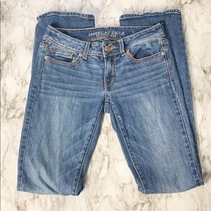 American Eagle Kick Boot Flap Pocket Jeans Size 2